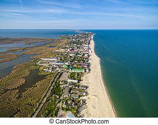 Bay coastline in Odessa region, Ukraine