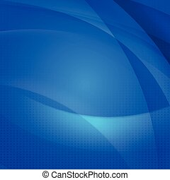 Abstract background with transparent blue wave for tech presentation concept, vector illustration