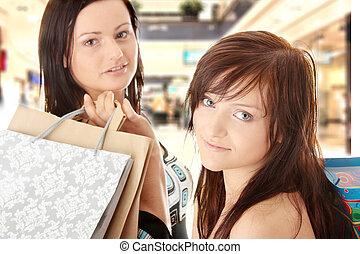 Shopping Women - Two Shopping Women in shopping mal.