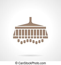 Sowing grain brown glyph style vector icon - Farming...
