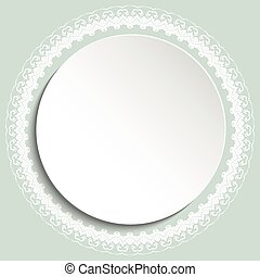 Nice Vector Greeting Card - Nice vector white frame with...