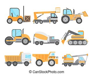 Machines for Construction Work Set - Machines for...