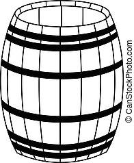 Wooden barrel  icon vector eps 10
