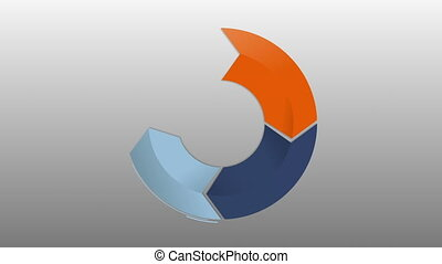 Circle diagram four result arrow box for presentation....