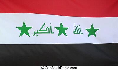 Fabric flag of Iraq