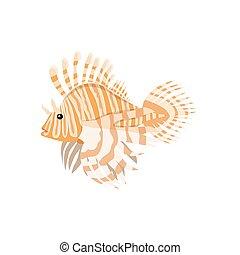 Tropical Fish Lionfish Pterois Volitans - Tropical fish...