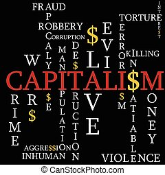 Capitalism as a background - Illustration capitalism as the...