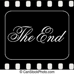 The end Movie ending screen.Vector