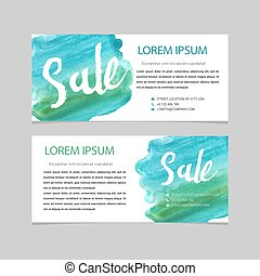 Set of sale banners design. Vector illustration