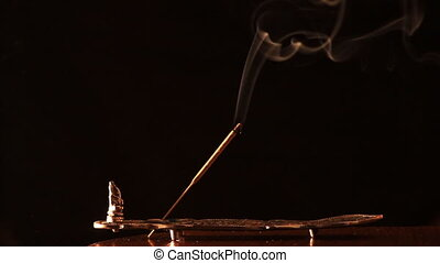 white smoke on a black background - white smoke from...