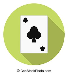 Playing Card Club Suit - Lesure Games Playing Card Club Suit...