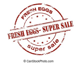 Fresh eggs super sale - Rubber stamp with text fresh eggs...