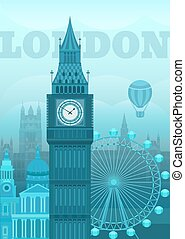 Vector illustration London - Vector illustration of London...