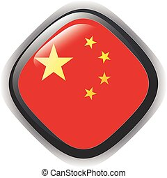 Button illustration of China flag