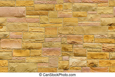 Seamless gold and pink masonry background