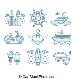 Set of vector summer - Set of vector icons summer....