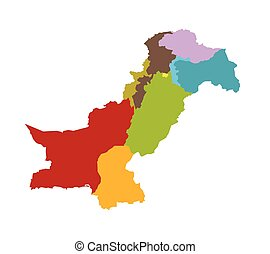 Pakistan map different provinces - Pakistan map identifying...