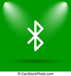 Bluetooth icon Internet button on green background