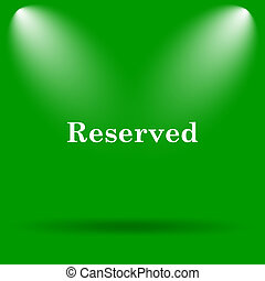 Reserved icon Internet button on green background