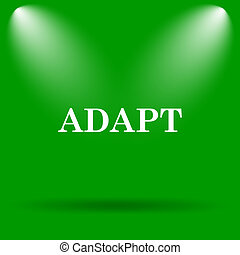Adapt icon Internet button on green background