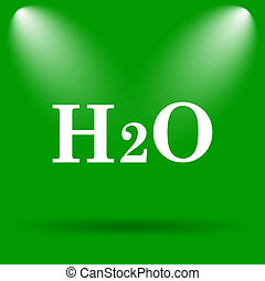 H2O icon Internet button on green background