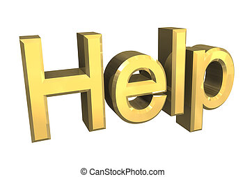 Help in gold - 3D
