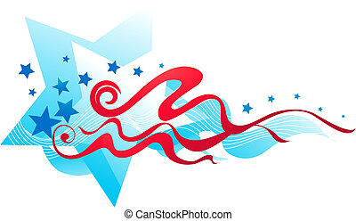 American flag banner - 2 - Abstract stars and stripes banner