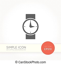 Flat Watch Icon. Universal vector element for user...