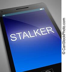 Phone stalker concept.