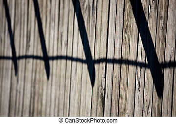 wooden walkway - Abstract view of a wooden walkway making a...
