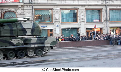 military equipment on city streets