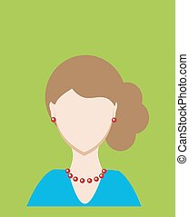 Female avatar or pictogram for social networks. Modern flat colorful style. Vector