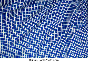 Blue and White Cross-Hatch Blanket - Blue and White...