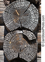 old wooden timbered wall background
