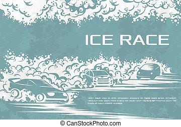Ice race card