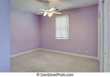 empty girls bedroom