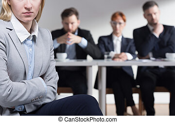 Job interviews are so stressful - Young applicant after a...