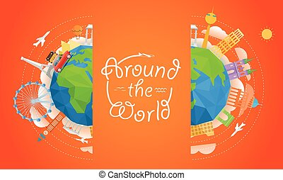 Travel vector illustration Around the world concept Travel...