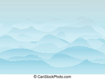 Vector landscape with mountains, background or wallpaper