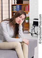 Depression after traumatic accident - Depressed young...