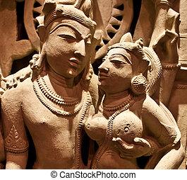 Uma-Maheshvara - Nort-Central India, XI century AD,...