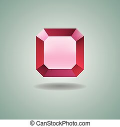 Ruby on green background - Ruby on a green background. Gem....