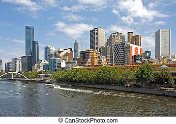 Melbourne, Victoria, Australia - Melbourne, with the Yarra...