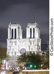 Notre dame Cathedral, Paris, Ile de France, France - The...