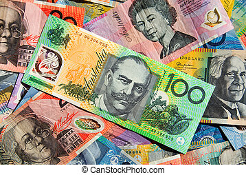 Australian Currency - Australian Five, Ten, Twenty, Fifty...