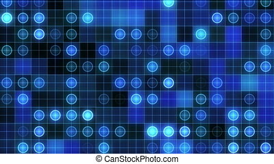 abstract grid maps, blue