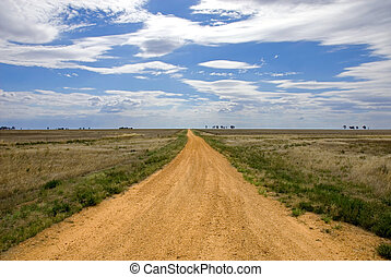 Country Road - A country road in a remote part of...