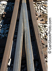 Railway Tracks - A close-up view of railway lines