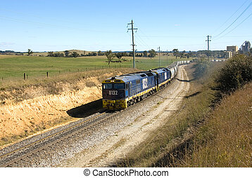 Goods Train - A train travelling on a single line between an...