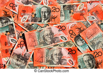 Australian Twenty Dollar Notes featuring the portraits of...
